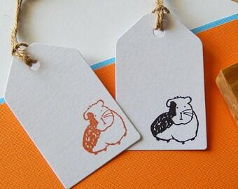Guinea Pig Olive Wood Stamp