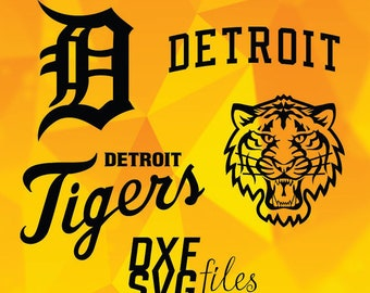 Detroit Tigers logos in SVG / Dxf / Png files INSTANT DOWNLOAD!