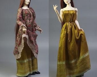 Rose Gold BJD Boho Romantic/Fantasy Dress Outfit for 1/3 dolls, fits Soom, Iplehouse, Feeple, etc.
