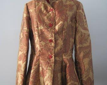 Jacobean Print Peplum Jacket
