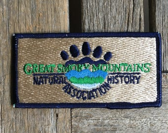 Great Smoky Mountains Natural History Association Vintage Travel Patch