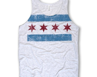Oversized Chicago Flag Tank - Men's