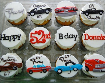 Mehndi Cake Toppers : Classic cars edible cake image antique car father s
