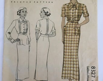 Vintage McCall dress pattern 8327