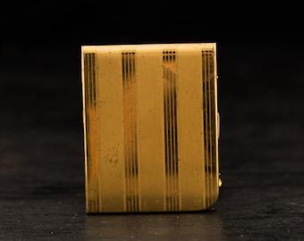 Cas de carte métal or vintage