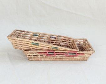 Flat Nesting Baskets Set of Two