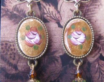 Art Nouveau Guilloche Earrings