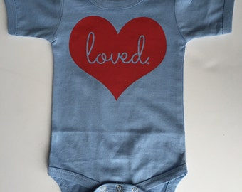 Loved Heart - Available in various colors and Sizes