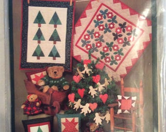 The Little Quilt Collection-Christmas Wallhangings and Pillows