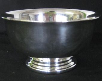 Gorham Paul Revere Silver Bowls, YC778, Silverplate Pedestal Footed Bowl Two 2 Bowls Wedding Anniversary Birthday