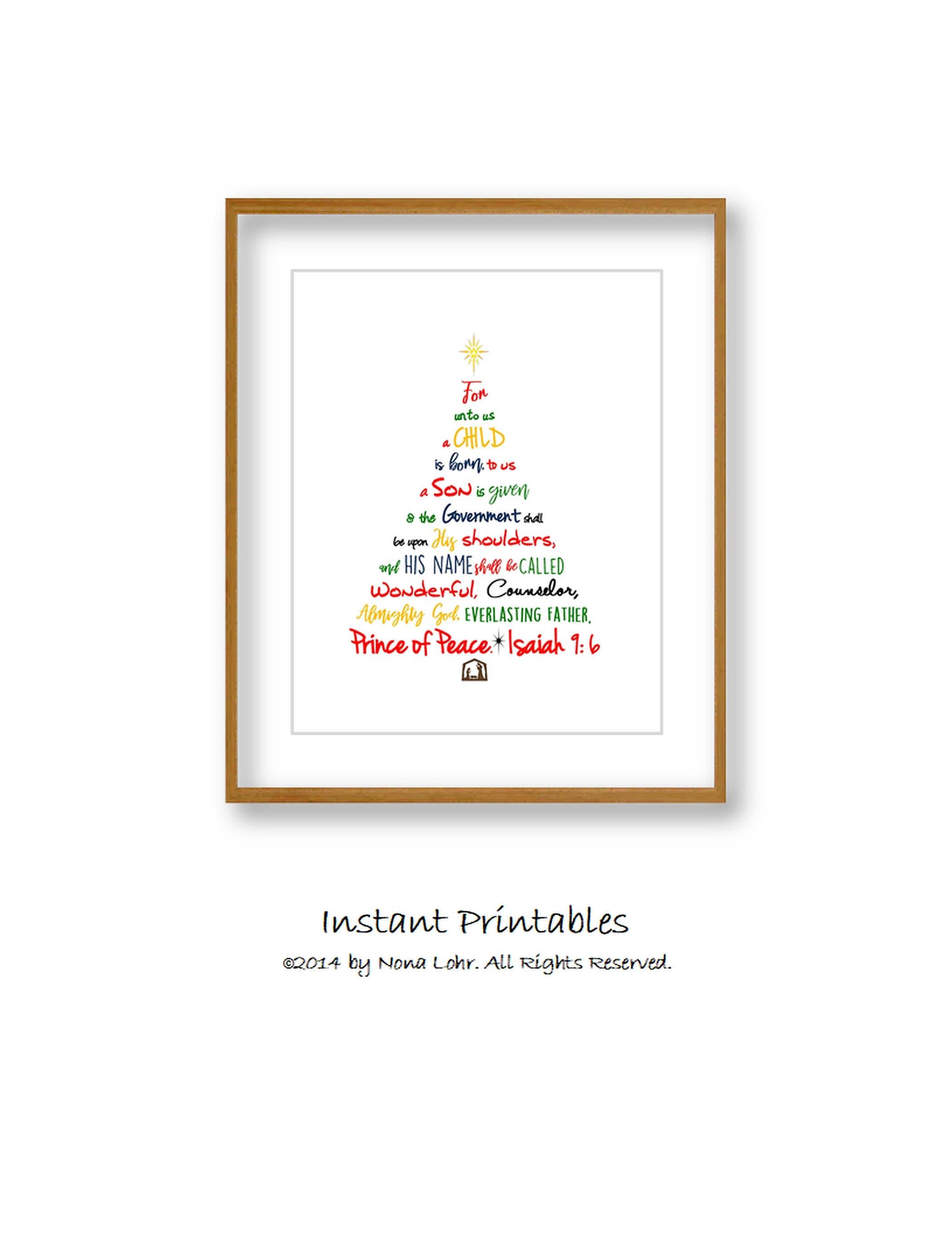 SALE Christmas Tree Print Christmas Tree Instant Download