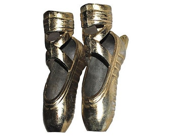 Dancing Slippers Brass Pair Wall Decor Vintage Beauty and Whimsy