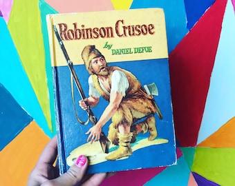 Robinson Crusoe - Vintage Whitman Hardcover - 1955 - illustrated