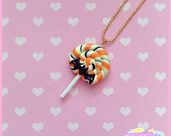 Halloween lollipop candy necklace