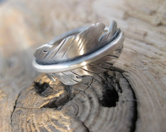 Sterling Feather Ring