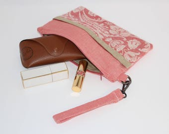 Linen clutch bag