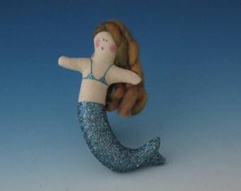 TINY green MERMAID, Mermaids, Dolls Mermaids, Mermaid Dolls, Mermaid Ornament