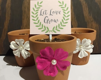 Let Love Grow shower and wedding favors