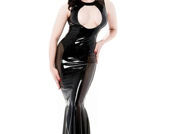 Jacqueline keyhole latex gown