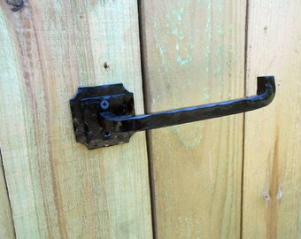 Hand forged contemporary style Toilet tissue holder\ hanger