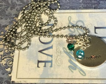 Personalized Charms with Birthstones