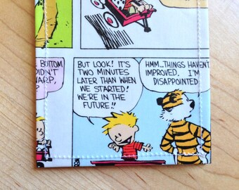 Calvin and Hobbes - Recycled Bifold Wallet - We're in the future!