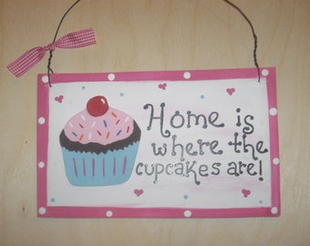 Kitchen Cupcake Wall Hanging - Home is Where the Cupcakes Are