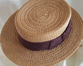 STETSON Straw Hat, for the Perfectly Dressed 21st Century Gentleman!