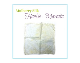 5 Mulberry Silk Hankies - Mawata Squares - Undyed Silk Fiber, Felting and Spinning Silk from Bombyx Mori