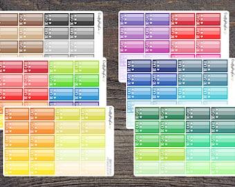 To Call Heart Checklists - Functional Multicolor Rainbow Neutrals - Erin Condren Planner Stickers