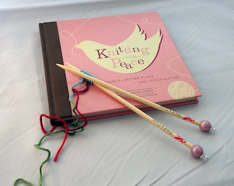 """1008 Bamboo Knitting Needles Find a Cure 9"""" - Various Sizes"""