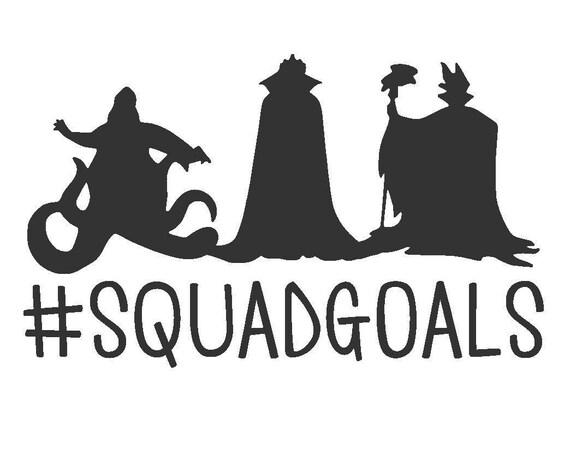 Disney Villain Squadgoals Vinyl Decal Ursula Evil Queen