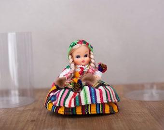 Vintage Polish folk doll Handmade collectible Traditional Poland Opoczno
