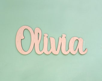 Baby Shower Name Sign - Laser Cut Wood Name Sign - Wooden Baby Name Sign - Custom Baby Shower Decorations
