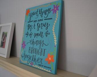 Vincent Van Gogh Quote Board