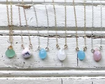 Briolette Gemstone Necklace