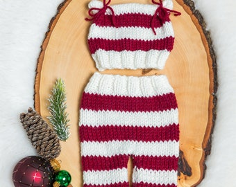 Christmas Baby girl, boy, newborn, preemie, hat, pants