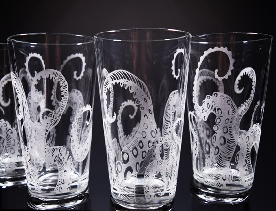 Octopus, Tentacles, Drinking Glass