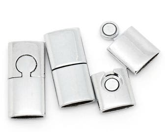 8 large magnetic clasps, 30x14mm. Tip to stick 12mm