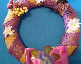 Purple daisy wreath