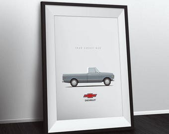 "1969 Chevrolet K20 Pick-up Truck - 8""x10"" Print - Multiple Colors"