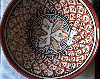 Serving Plate Hand Painted