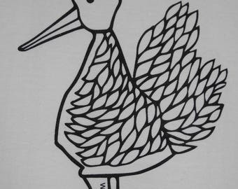Limited edition screen print duck T-shirt