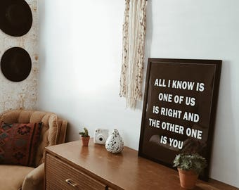 Tapestry, Bohemian Yarn Tapestry, Yarn Wall Hanging, Boho Chic Farmhouse Decor for Bedroom, Dorm Room, Living Room, High Quality & Handmade