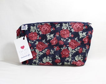 Large Zippered Cosmetic Bag