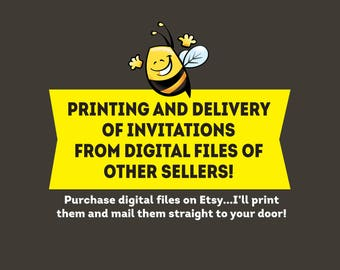 Printing Services   Invitation Printing - Printed and Shipped to You