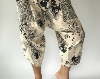 HC0103 Samurai Pants Men's Fahion Harem Pants Yoga Pants Casual Cotton Bottoms zdoDvFg