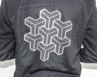 MENS Zip Through 'Geometric Dreams' Hoodie