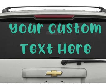 Custom Car Decals Etsy - Custom car window decals stickers
