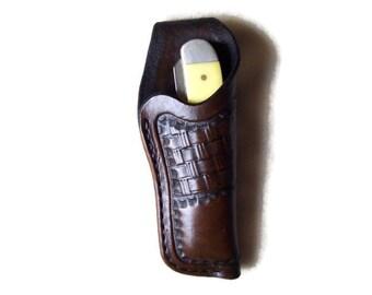 Medium Custom Leather Knife Sheath with belt loop